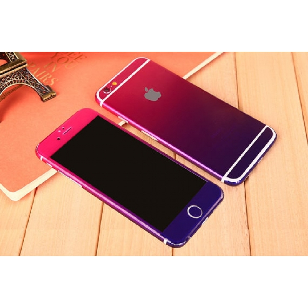 10% OFF + FREE SHIPPING, Buy PDair Gradient iPhone Decal Wrap Skin Set (Purple to Pink) which is available for iPhone 6   iPhone 6s, iPhone 6 Plus   iPhone 6s Plus, iPhone 5   iPhone 5s SE. You also can go to the customizer to create your own stylish leat