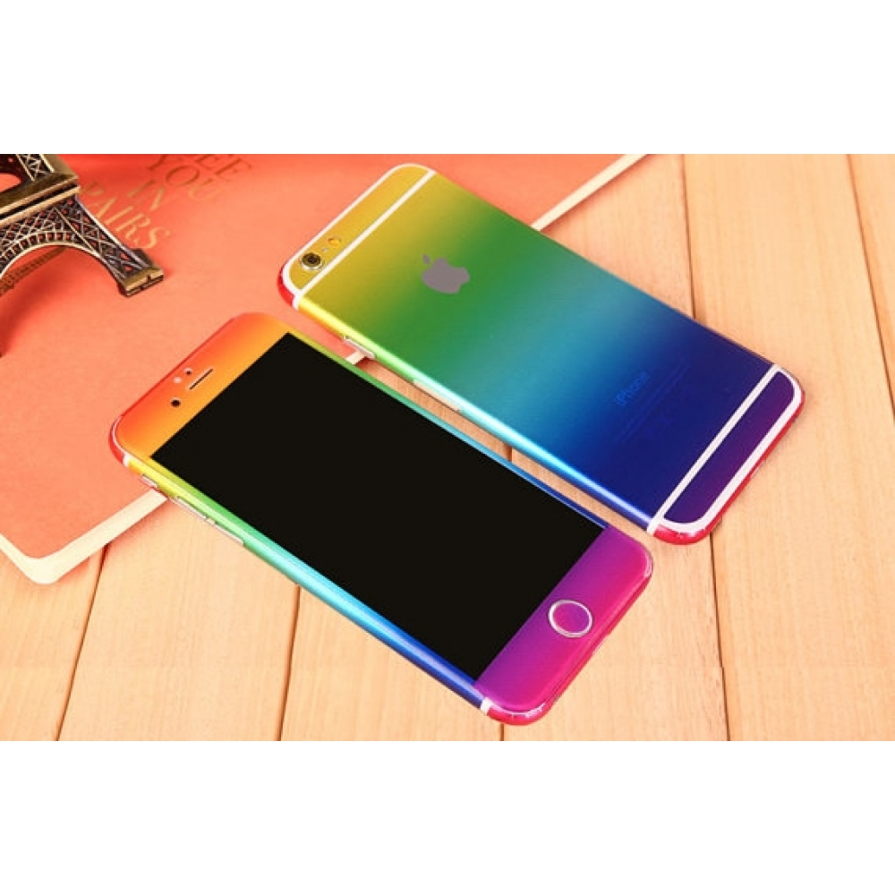 10% OFF + FREE SHIPPING, Buy PDair Top Quality Gradient iPhone Decal Wrap Skin Set Rainbow which is available for iPhone 6 | iPhone 6s, iPhone 6 Plus | iPhone 6s Plus, iPhone 5 | iPhone 5s SE You also can go to the customizer to create your own stylish le