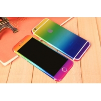 Gradient iPhone 6s 6 Plus Decal Wrap Skin Set (Rainbow)