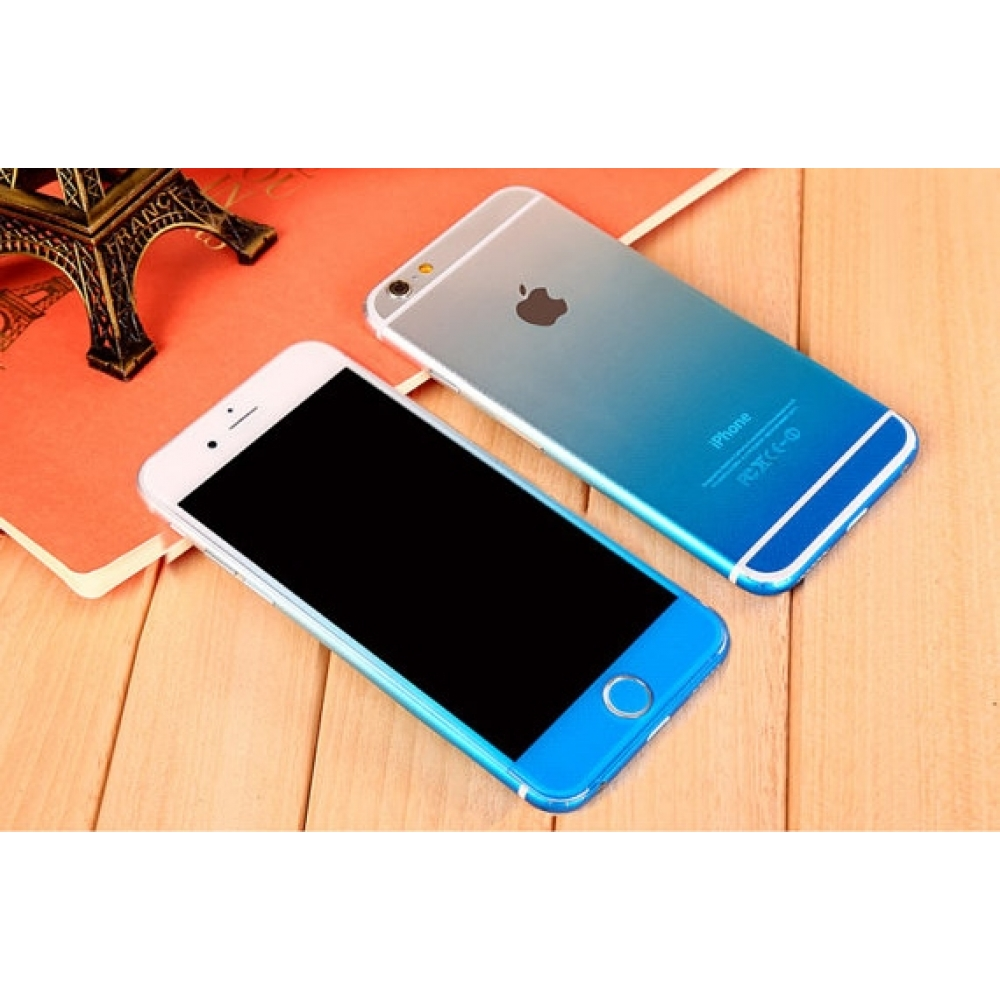 10% OFF + FREE SHIPPING, Buy PDair Top Quality Gradient iPhone Decal Wrap Skin Set Sky Blue which is available for iPhone 6 | iPhone 6s, iPhone 6 Plus | iPhone 6s Plus, iPhone 5 | iPhone 5s SE You also can go to the customizer to create your own stylish l