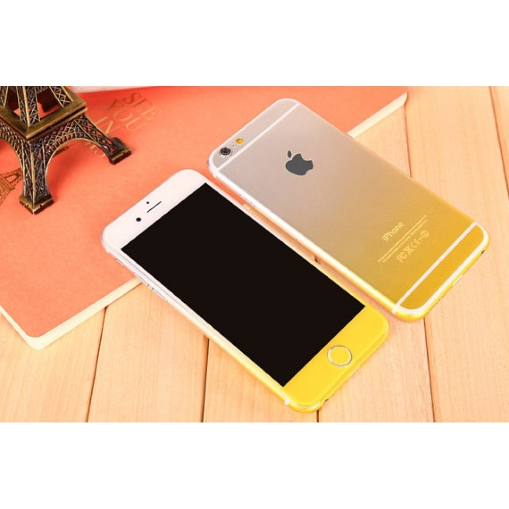 10% OFF + FREE SHIPPING, Buy PDair Top Quality Gradient iPhone Decal Wrap Skin Set (Yellow) which is available for iPhone 6 | iPhone 6s, iPhone 6 Plus | iPhone 6s Plus, iPhone 5 | iPhone 5s SE You also can go to the customizer to create your own stylish l