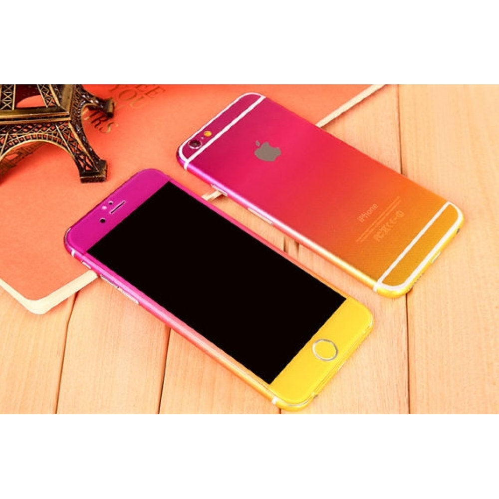 10% OFF + FREE SHIPPING, Buy PDair Gradient iPhone Decal Wrap Skin Set (Yellow Orange Pink) which is available for iPhone 6 | iPhone 6s, iPhone 6 Plus | iPhone 6s Plus, iPhone 5 | iPhone 5s SE You also can go to the customizer to create your own stylish l