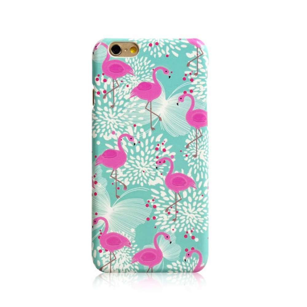 iPhone 6s 6 Plus SE 5s 5 Hard Shell Cover Case Green Flamingo Bird Floral Luminous :: PDair
