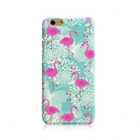Green Flamingo Bird Floral iPhone 6s 6 Plus SE 5s 5 Pattern Printed Hard Case