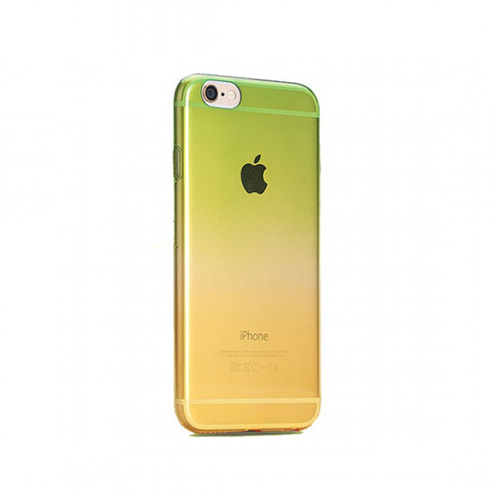 10% OFF + FREE SHIPPING, Buy PDair Gradient iPhone Soft Clear Case Green to Yellow which is available for iPhone 5 | iPhone 5s, iPhone 6 | iPhone 6s, iPhone 6 Plus | iPhone 6s Plus, iPhone SE You also can go to the customizer to create your own stylish le