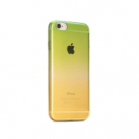 Green to Yellow Gradient iPhone 6s 6 Plus SE 5s 5 Soft Clear Case
