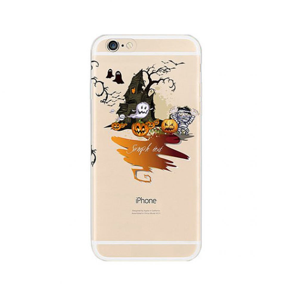 10% OFF + FREE SHIPPING, Buy PDair iPhone Soft Clear Case (Halloween Pumpkin Ghost) which is available for iPhone 5 | iPhone 5s, iPhone 6 | iPhone 6s, iPhone 6 Plus | iPhone 6s Plus, iPhone SE You also can go to the customizer to create your own stylish l