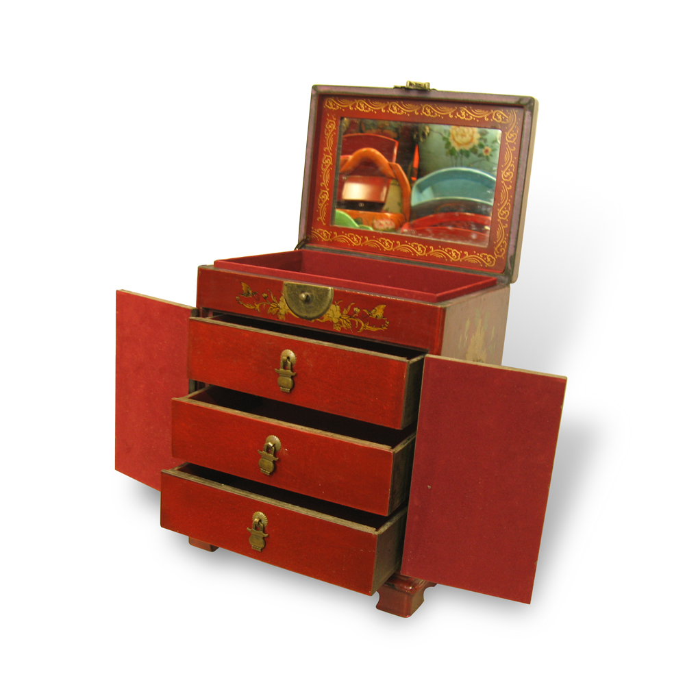 10% OFF + FREE Shipping, Buy Best PDair Quality Handmade Collectible Antique Oriental Dressing Jewellery Box Genuine Leather Surface (Red) ZBXGR-A034 online You also can go to the customizer to create your own stylish leather case if looking for additiona