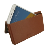 Leather Wallet Pouch for HTC 10 EVO (Brown)