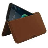 Leather Wallet Pouch for HTC Desire 12 Plus | Desire 12+ (Brown)
