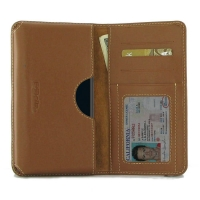 Leather Card Wallet for HTC Desire 12 Plus | Desire 12+ (Brown)