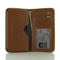 HTC Desire 650 Leather Wallet Sleeve Case (Brown) PDair Premium Hadmade Genuine Leather Protective Case Sleeve Wallet PDair Premium Hadmade Genuine Leather Protective Case Sleeve Wallet