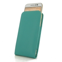 HTC One S9 Leather Sleeve Pouch Case (Aqua) PDair Premium Hadmade Genuine Leather Protective Case Sleeve Wallet