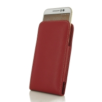 HTC One S9 Leather Sleeve Pouch Case (Red) PDair Premium Hadmade Genuine Leather Protective Case Sleeve Wallet