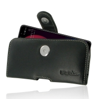 Leather Horizontal Pouch Case with Belt Clip for HTC U11 Eyes