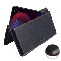Leather Wallet Pouch for HTC U11 Eyes (Red Stitch)