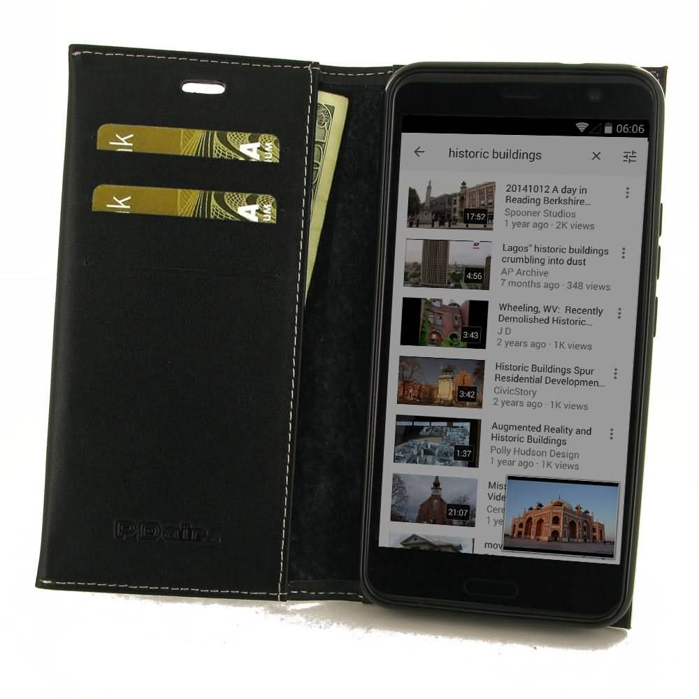 Leather Book Stand Wallet Case for HTC U11