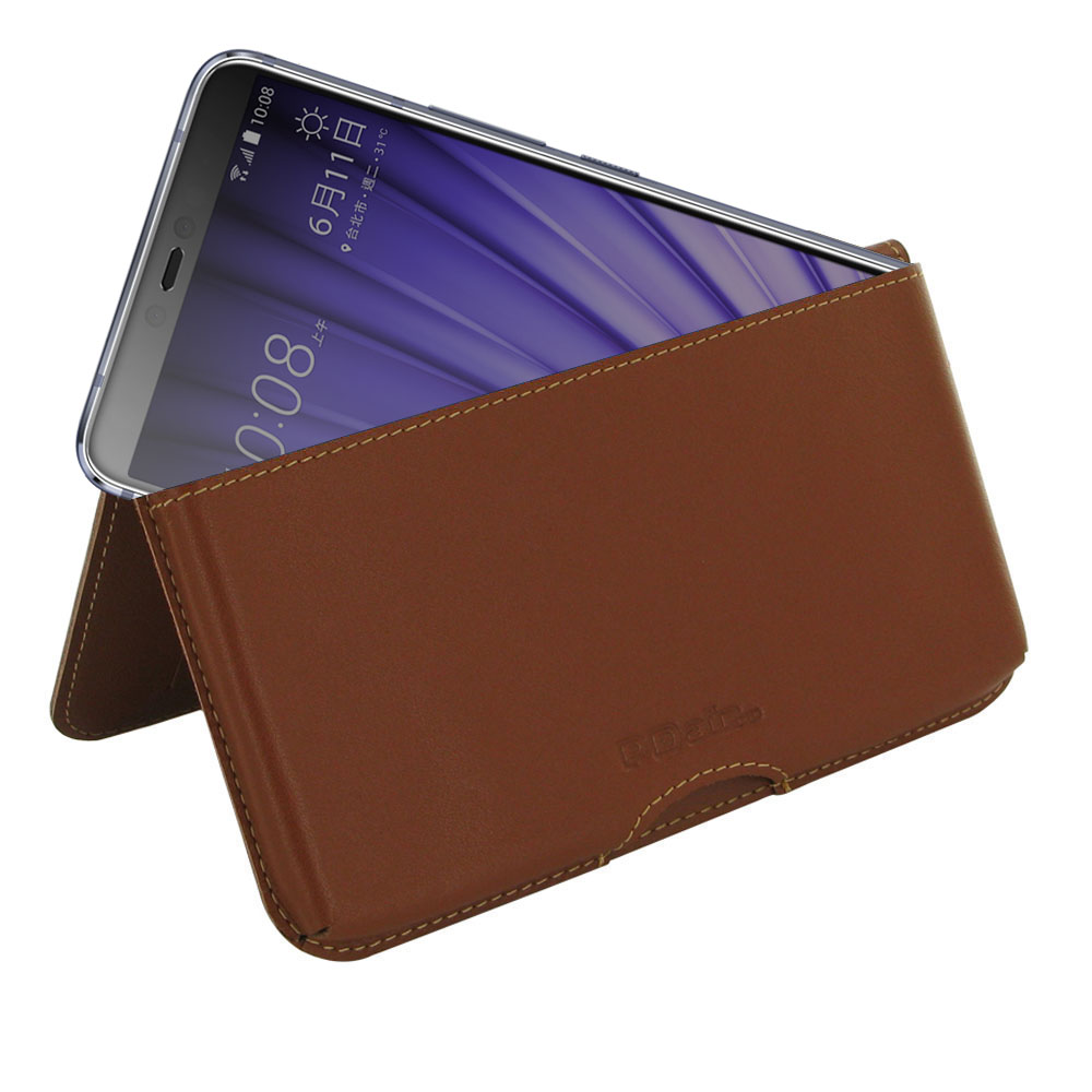 10% OFF + FREE SHIPPING, Buy the BEST PDair Handcrafted Premium Protective Carrying HTC U19e Leather Wallet Pouch Case (Brown). Exquisitely designed engineered for HTC U19e.