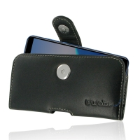 Leather Horizontal Pouch Case with Belt Clip for Huawei Enjoy 8e
