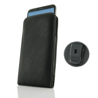 Leather Vertical Pouch Belt Clip Case for Huawei Enjoy 8e