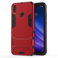 Huawei Enjoy 9 Plus Tough Armor Protective Case (Red)
