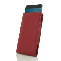 Huawei G9 Lite Leather Sleeve Pouch Case (Red) PDair Premium Hadmade Genuine Leather Protective Case Sleeve Wallet