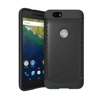 Hybrid Combo Aegis Armor Case Cover for Huawei Google Nexus 6P (Black) :: PDair