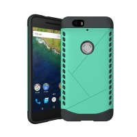 Hybrid Combo Aegis Armor Case Cover for Huawei Google Nexus 6P (Green) :: PDair
