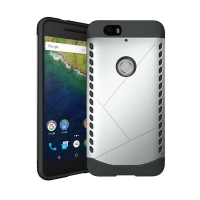 Hybrid Combo Aegis Armor Case Cover for Huawei Google Nexus 6P (Silver) :: PDair
