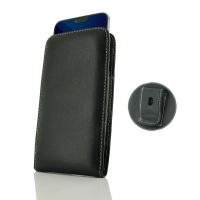 Leather Vertical Pouch Belt Clip Case for Huawei Honor 10
