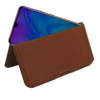 Leather Wallet Pouch for Huawei Honor 20i (Brown)