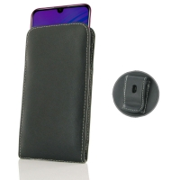 Leather Vertical Pouch Belt Clip Case for Huawei Honor 20i