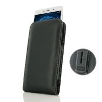 Leather Vertical Pouch Belt Clip Case for Huawei Honor 6X