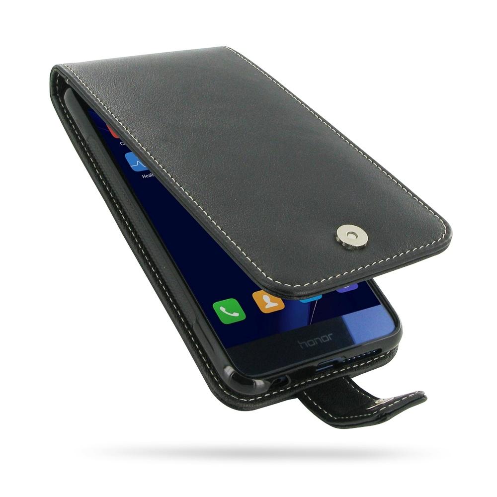 best sneakers 19edb c60b7 Leather Flip Wallet Case for Huawei Honor 8