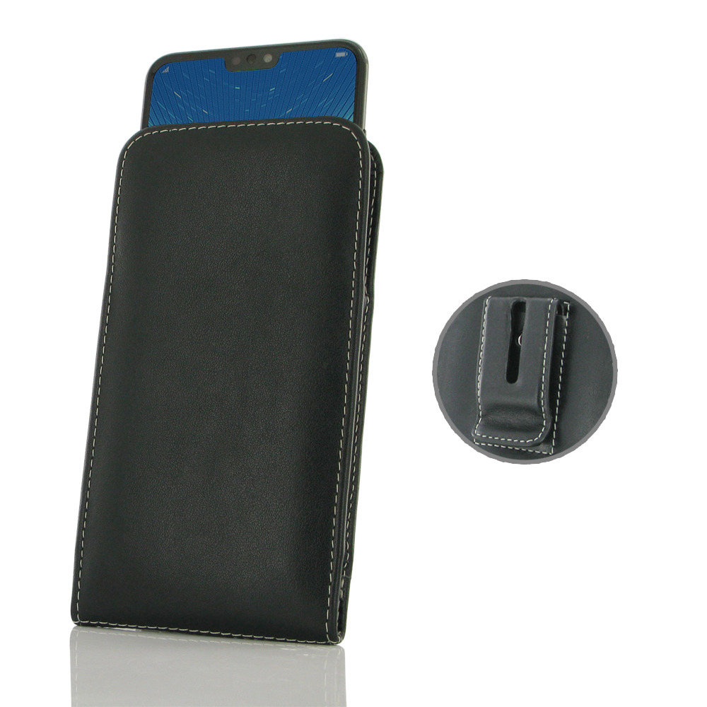 Leather Vertical Pouch Belt Clip Case for Huawei Honor 8X