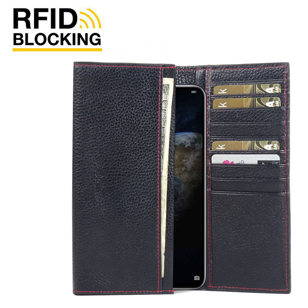 10% OFF + FREE SHIPPING, Buy the BEST PDair Handcrafted Premium Protective Carrying Huawei Honor Magic 2 Leather Continental Sleeve Wallet (Red Stitching). Exquisitely designed engineered for Huawei Honor Magic 2.