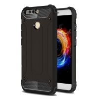 Hybrid Dual Layer Tough Armor Protective Case for Huawei Honor V9 (Black)