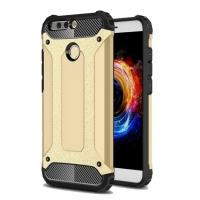 Hybrid Dual Layer Tough Armor Protective Case for Huawei Honor V9 (Gold)