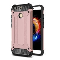 Hybrid Dual Layer Tough Armor Protective Case for Huawei Honor V9 (Rose Gold)