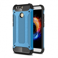 Hybrid Dual Layer Tough Armor Protective Case for Huawei Honor V9 (Skyblue)