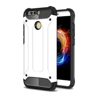 Hybrid Dual Layer Tough Armor Protective Case for Huawei Honor V9 (White)