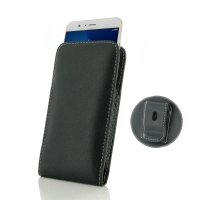 Leather Vertical Pouch Belt Clip Case for Huawei Honor V9