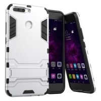 Huawei Honor V9 Tough Armor Protective Case (Silver)