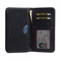 Leather Card Wallet for Huawei Mate 10 (Red Stitch)