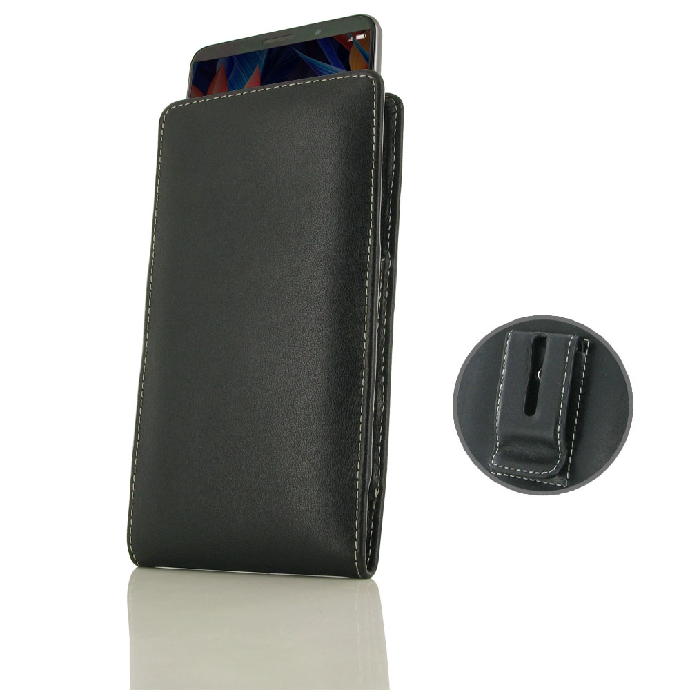 the latest dd46c e03ce Leather Vertical Pouch Belt Clip Case for Huawei Mate 10 Pro