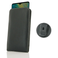 Leather Vertical Pouch Belt Clip Case for Huawei Mate 20