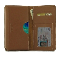 Leather Card Wallet for Huawei Mate 30 Pro 5G (Brown)