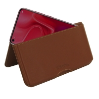 Leather Wallet Pouch for Huawei nova 4 (Brown)