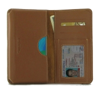 Leather Card Wallet for Huawei Nova 5 (Brown)