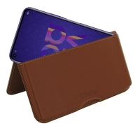 Leather Wallet Pouch for Huawei Nova 5T (Brown)